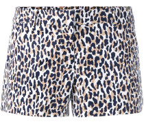 'Thora' Shorts mit Animal-Print