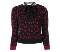 Pullover mit Intarsien-Herzmuster