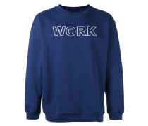 "Sweatshirt mit ""Work""-Print"