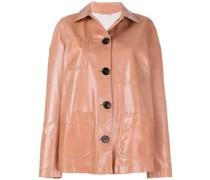 Oversized-Jacke mit Knopfleiste