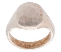 Ovaler Statement-Ring aus Silber