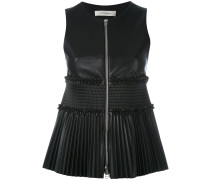 - sleeveless and pleated top - women - Polyester