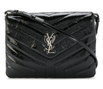 Loulou Monogramme Patent Leather Strap Clutch Bag