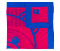 teddy motif scarf