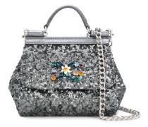 Mini 'Sicily' Handtasche mit Pailletten