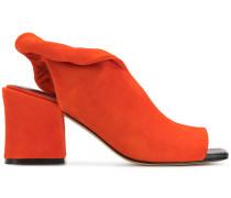 block heel sling back sandals