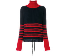 roll neck striped jumper
