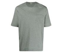 T-Shirt mit Leinenanteil