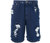 Shorts in Distressed-Optik - men - Baumwolle