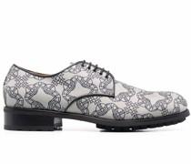 Derby-Schuhe mit Orb-Print