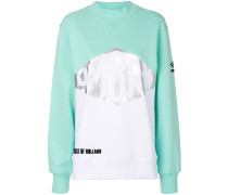 metallic detail colour block sweatshirt