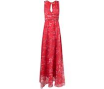 floral-print flared dress
