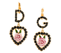logo rose earrings