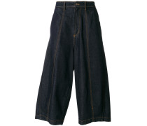 'Bomb Culotte' Cropped-Jeans