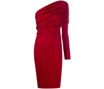 Gerafftes One-Shoulder-Kleid