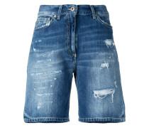 Jeans-Shorts in Distressed-Optik - women