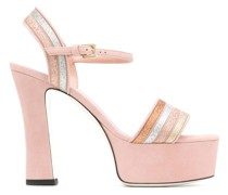 Glitter-Sandalen mit Plateau