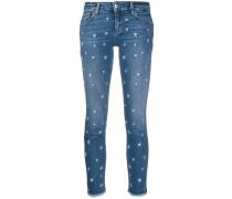 Jeans mit Sternenstickerei