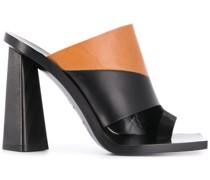 Sandalen mit zweifarbigem Absatz