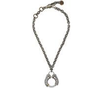 Halskette mit Hufeisen-Anhänger mit Kristallen