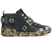 High-Top-Sneakers mit Logo-Schnalle