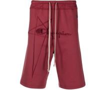 Jersey-Shorts mit Stickerei
