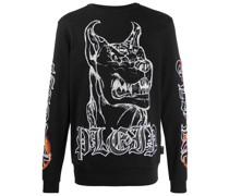 Sweatshirt mit Gothic-Print