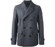 Doppelreihige Jacke aus Schurwollgemisch