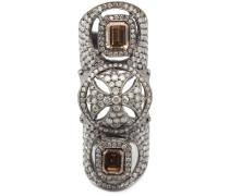 Bondage-Ring aus 18kt Weißgold mit Diamanten
