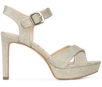 glitter heeled sandals