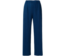 pleated straight trousers