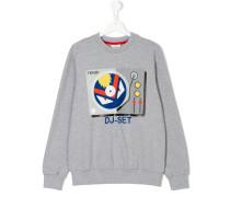 Sweatshirt mit DJ-Pult-Print