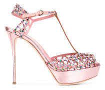 Sandalen mit Swarowski-Kristallen