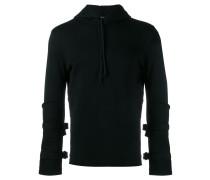 buckled sleeve hoodie
