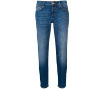 Skinny-Jeans mit ausgeblichenem Effekt