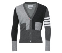 Kaschmircardigan in Colour-Block-Optik