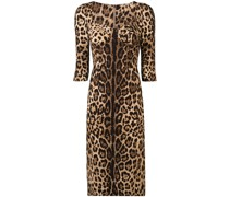 Schmales Kleid mit Leo-Print