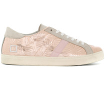 D.A.T.E. Gemusterte Metallic-Sneakers