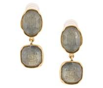 Vergoldete Ohrringe mit Cabochons