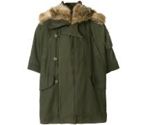camouflage cape coat
