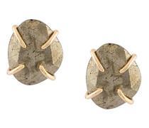 14kt Goldohrringe mit Pyrit