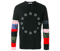 star colour-block sweatshirt