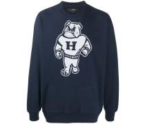 Sweatshirt mit Bulldogge-Print