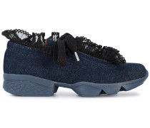Ariana denim ruffle sneakers