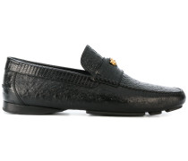 crocodile effect signature loafers