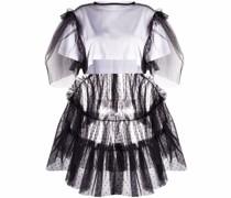 Kleid mit Tüll-Overlay