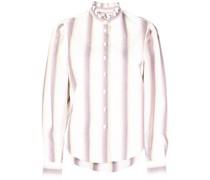 ruffle-collar cotton shirt