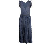 Geripptes Kleid im Metallic-Look
