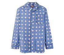 Pyjama mit Quadrat-Print