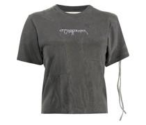 T-Shirt mit ausgeblichenem Logo